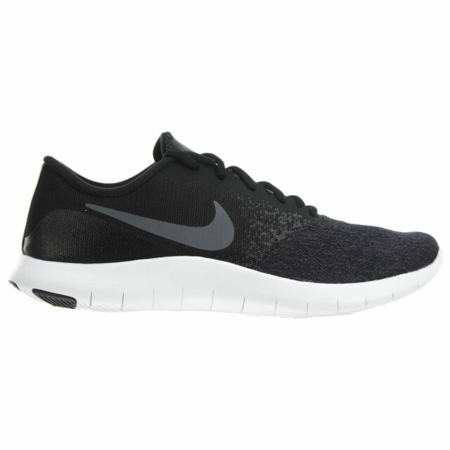 c96e19a6a325c Nike Flex Contact Mens 908983-002 Black Grey Mesh Knit Running Shoes Size 13