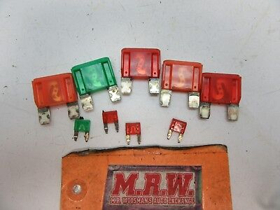 SET OF 9 MISC FUSES MAIN FUSE BOX RELAY 10 30 40 50 AMP 2.2L ENGINE MOTOR  OEM | eBayeBay