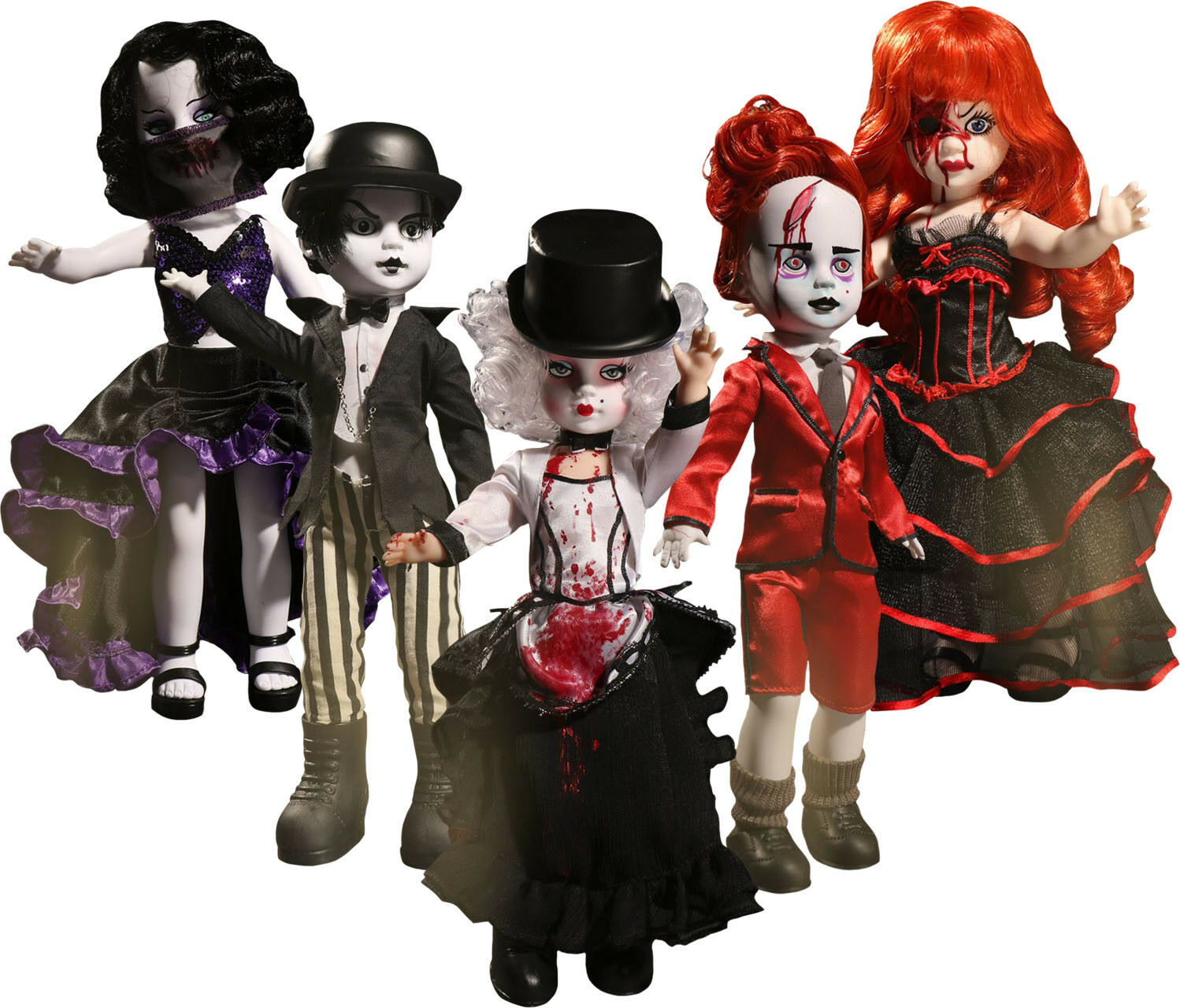Living Dead Dolls - 10  serie 33 Acción Figura Set (5) De Mezco  NEW