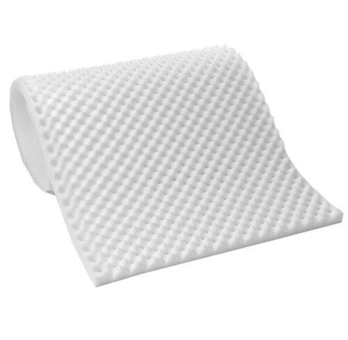 """Lightweight Textured Eggcrate Foam 1//2/"""" Mattress Topper Pad All Sizes"""