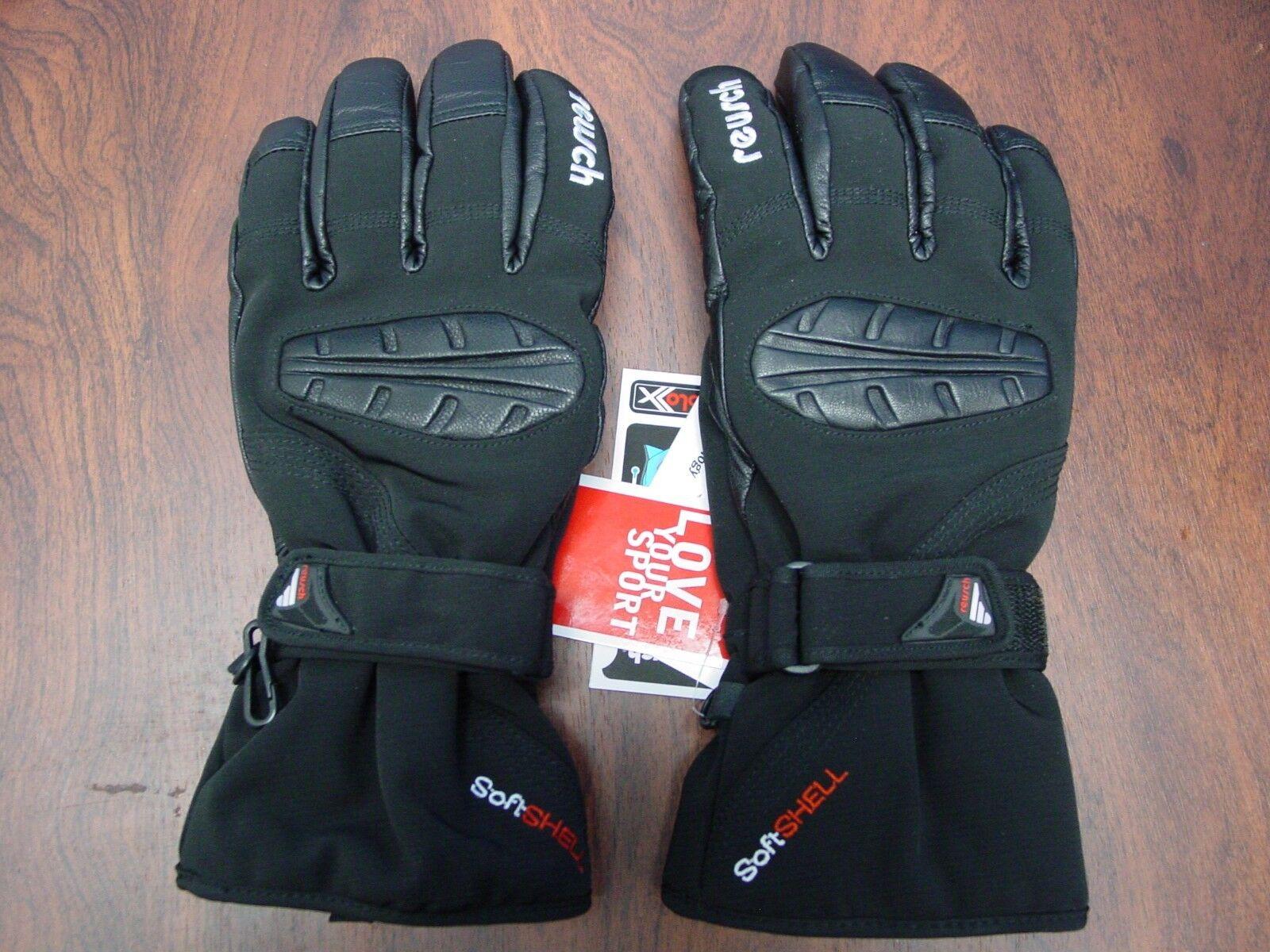 Neu Reusch Stormbloxx Softshell & Leder Ski Handschuhe Medium 8.5 Axamer 2888334