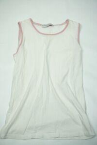 Brunello-Cucinelli-White-Pink-Cashmere-Outline-Womens-Tank-Top-Sz-L