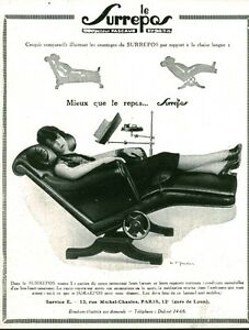 Old advertising the surrepos 1929 chair from magazine