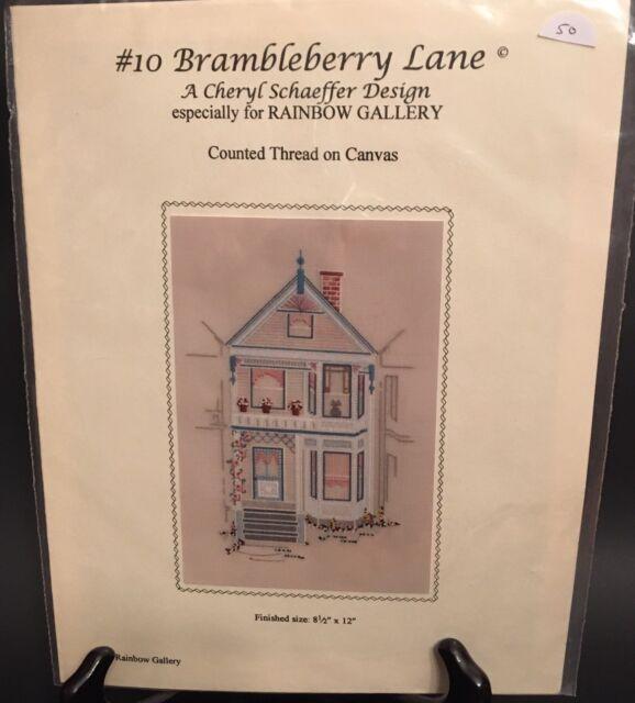 Brambleberry Lane Cheryl Schaeffer Rainbow Gallery Counted Thread Canvas Pattern