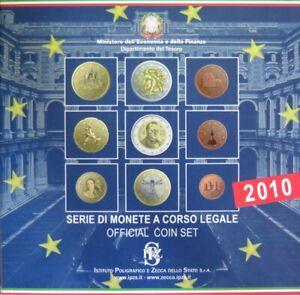 0544 - Coffret Bu Italie - 2010 - 1 Cent à 2 Euros + 2 Euros Cavour MatéRiaux De Choix