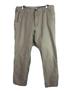 Mountain-Khakis-Outdoor-Pants-Mens-36-x-32-Beige-Flat-Front-100-Cotton-Casual