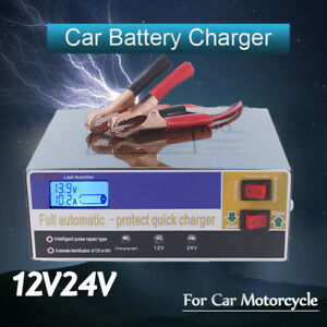 AU-Auto-Car-Battery-Charger-Intelligent-150-250V-12-24V-100AH-Pulse-Repair-NEW