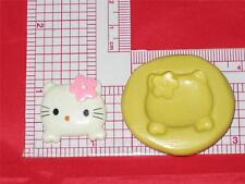 Hello Kitty Push Mold A612 Food 2D Silicone Cake Chocolate Resin Polymer Clay