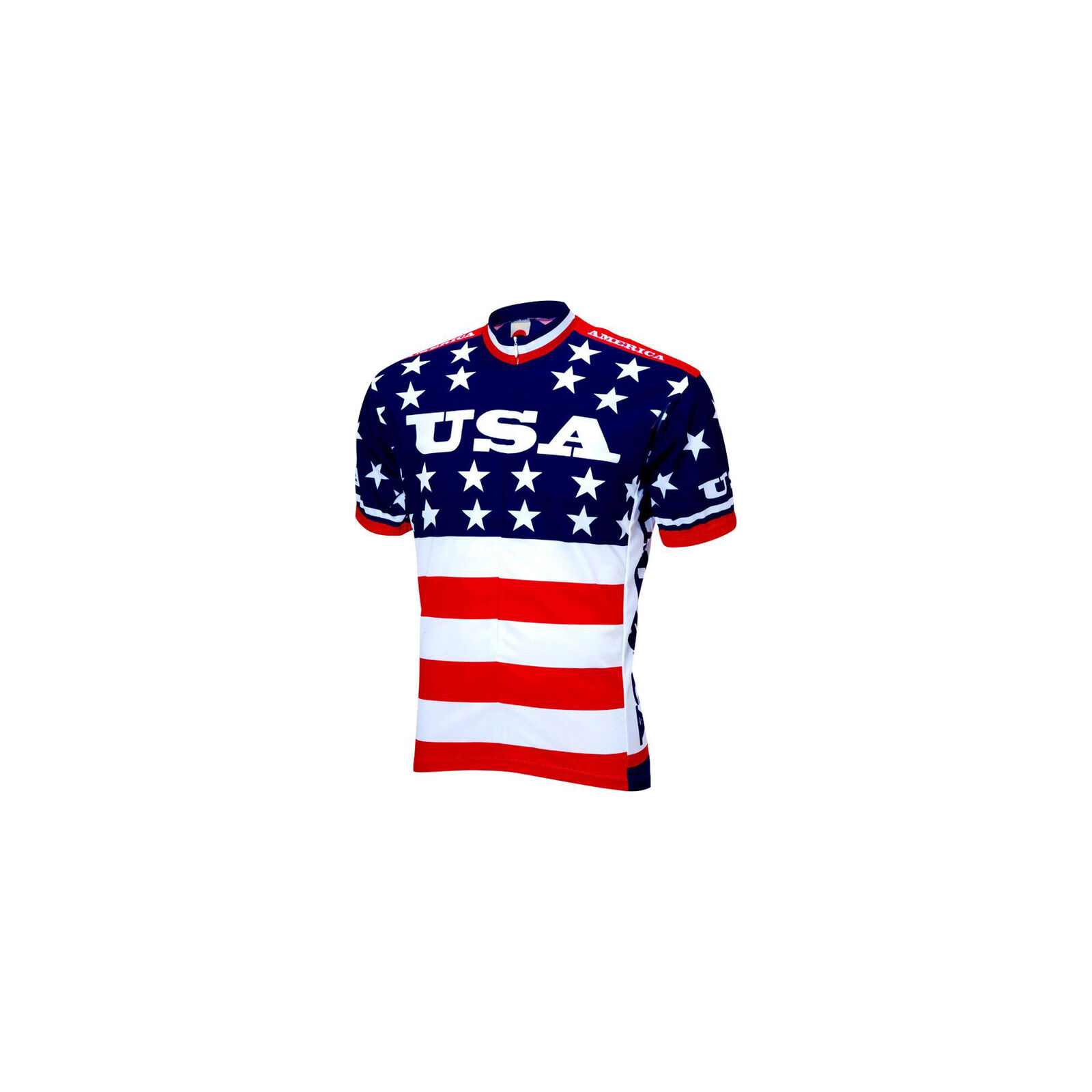 World Jerseys Team USA 1979 Retro  Cycling Men's Jersey  Red White bluee, LG  ultra-low prices