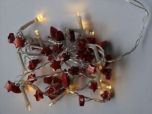 LED-Lichterkette-15-LED-warmweiss-Deko-Girlande-rot-oder-gold-Batteriebetrieb