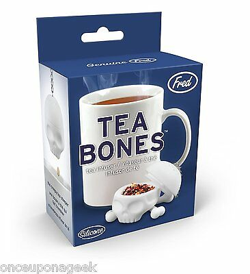 Fred and Friends Tea Bones Skull Tea Infuser T-Bones Silicone Tea Strainer