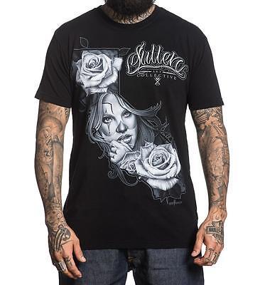 Sullen Art Collective Devils Ride Biker Skeleton Black Tattoo T Shirt S-3XL UK