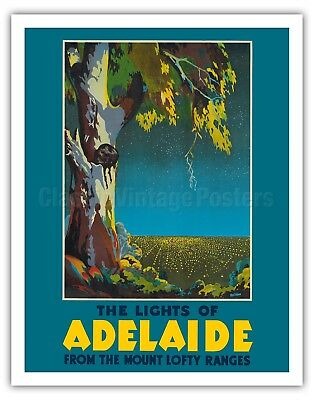 """24x32 1930s See America /""""Caverns/"""" Classic Vintage WPA Travel Poster"""