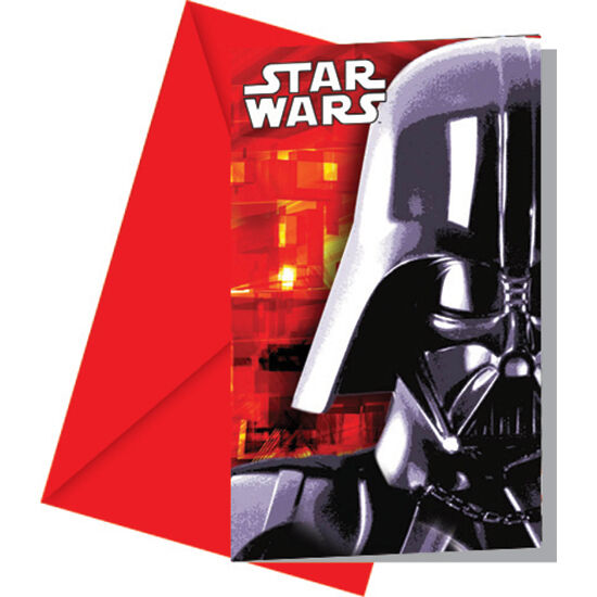 Pack Of 6 Star Wars Invitations Darth Vader Birthday Party With