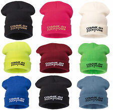 Beanie Hat Mens Ladies Womens Slouch Winter Woolly Ski Knitted Turn Up Pla Warm