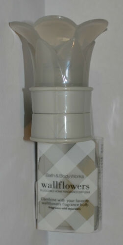 BATH & BODY WORKS GRAY FLOWER WALLFLOWER FRAGRANCE PLUG IN UNIT AIR FRESHENER