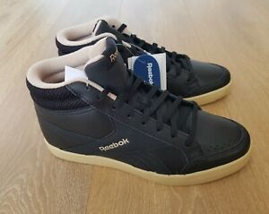 Black Leather Trainer Boots UK 4 EUR 37