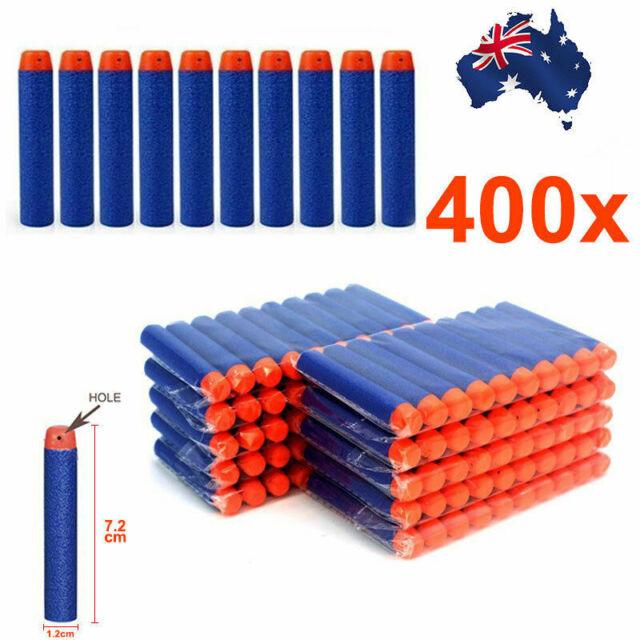 400x Round Head Bullets Toy Refill Gun Darts Blasters for Elite NERF N-Strike OZ