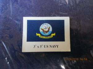 3x5 United States Navy Flag USN Emblem Coat of Arms Banner US Military Pennant