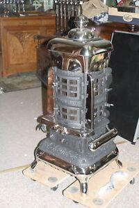 Gussofen-Kanonenofen-Ofen-Jugendstil-Art-Deko-Loft-Amerikanischer-Leuchtofen