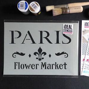 Plantilla-vintage-frances-Paris-market-shabby-chic-muebles-pintura-para-tela