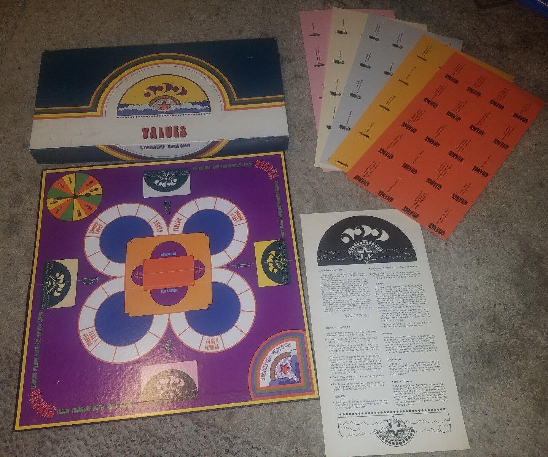 Los valores de una amistad Orbis juego 1972 tarjetas sin cortar Raro