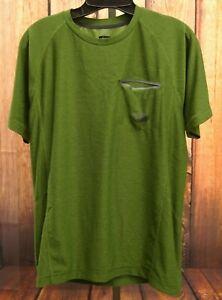 Face T met Crewneck Mens sportief mouwen Flash shirt Pocket Sz North Green Dry korte S The q5PSwOE