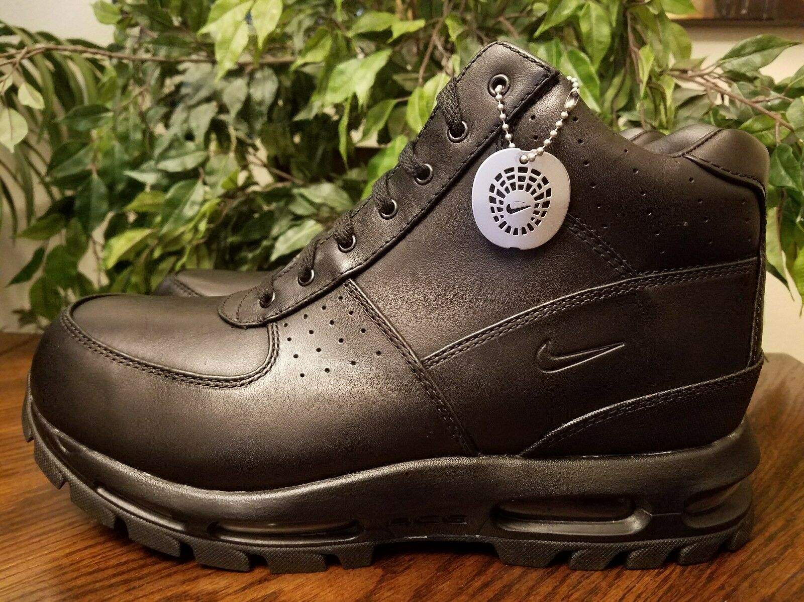 Nike Men Air Max Goadome 2013 Leather Boots Sz 9.5 Black 599474-050 THESPOT917 Comfortable and good-looking