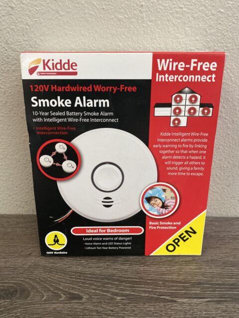 Kidde Hardwire Smoke Detector 10 Year Battery Backup And Voice