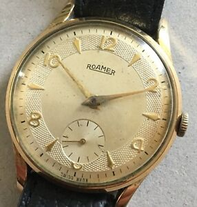 Vintage-Working-1950s-Roamer-swiss-Wristwatch-Cal-402-15j-Mechanical-Watch