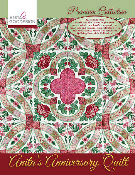 Anita Goodesign Premium Art Quilts Embroidery Machine Design CD CD ONLY