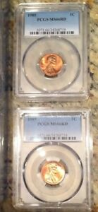 1985-Lincoln-Memorial-Cent-PCGS-Graded-MS66-RD-RED-Low-Pop-Price-per-Coin