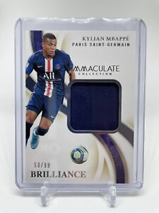 2020 Immaculate Soccer PSG KYLIAN MBAPPE BRILLIANCE PATCH JERSEY /99