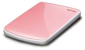 Buffalo-MiniStation-Lite-Pink-2-5-034-USB2-GEHAUSE-OHNE-HDD-leicht-defekt