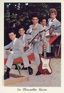 df112171c21 LES CHAUSSETTES NOIRES EDDY MITCHELL 60s CARTE PHOTO CARD VINTAGE  1 ...