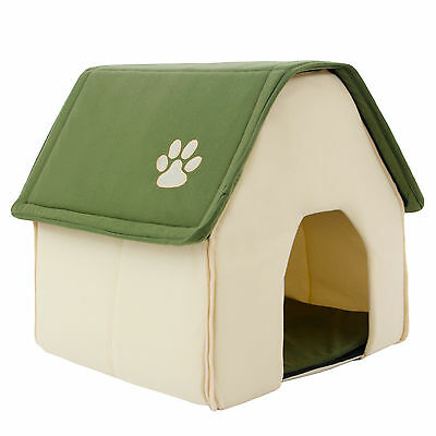 Pet Dog Cat Beds House Puppy Dog Kennel Cave Nest Igloo Pad Cozy Cushion Beds