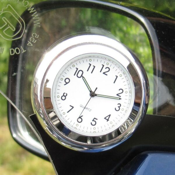 "Onvermoeibaar New! British Made Time-rite ""forty-four"" Car Dashboard Clock - White Clock"