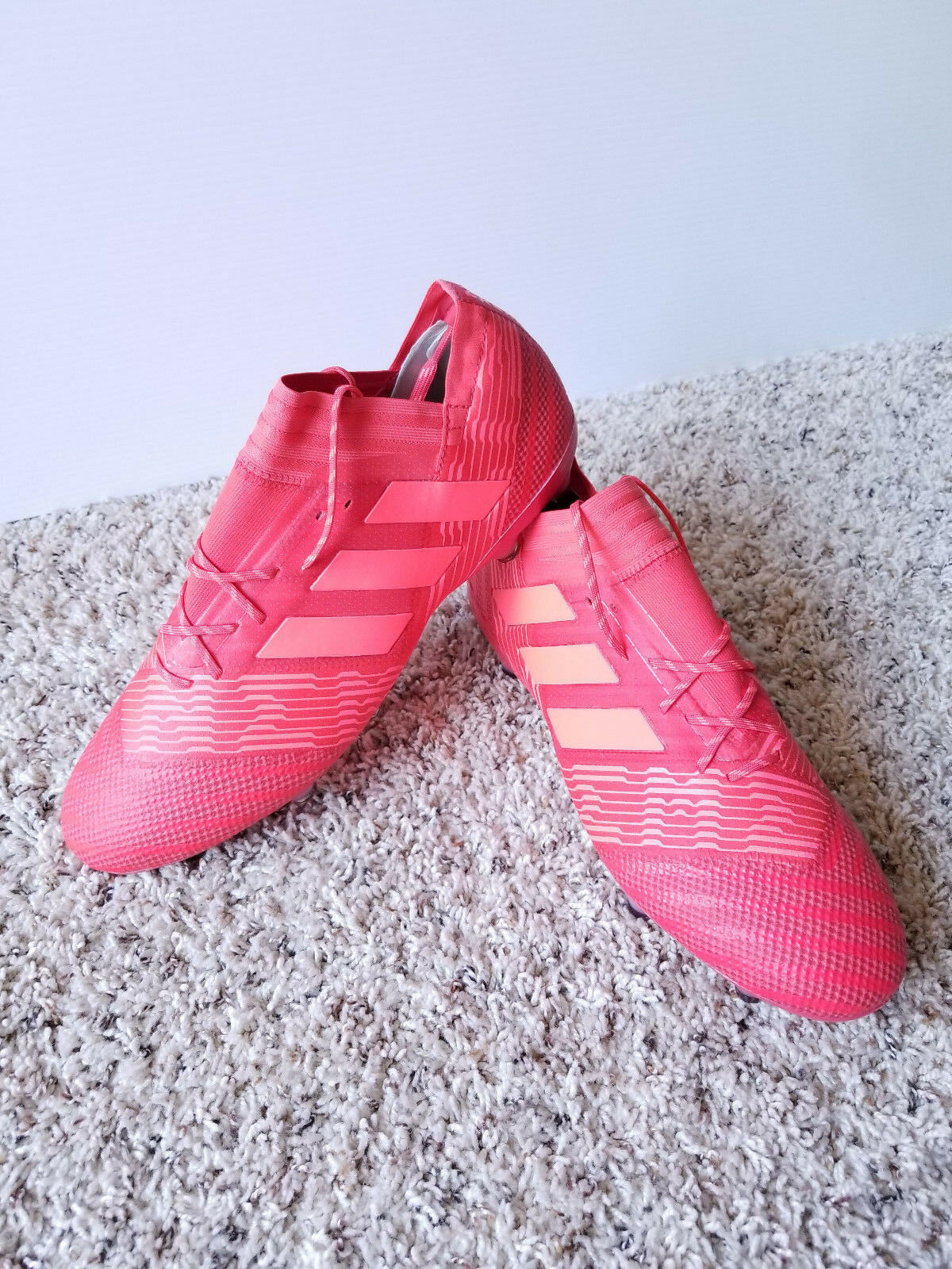 Adidas Men's Soccer Nemeziz 17.1 FG Cleats shoes Real Coral Red US 13.5 NWOB