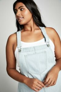 Cotton-On-Womens-Curve-Classic-Denim-Pinafore-Curve-In-Blue