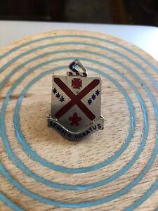Vintage-Semper-Paratus-Enamel-Pin-DUI-Unit-Insignia-101st-Infantry-US-Army