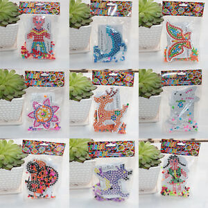 5mm-Hama-Perler-Beads-DIY-Kids-Craft-Plastic-Puzzle-Pegboards-bead-Toys-SL
