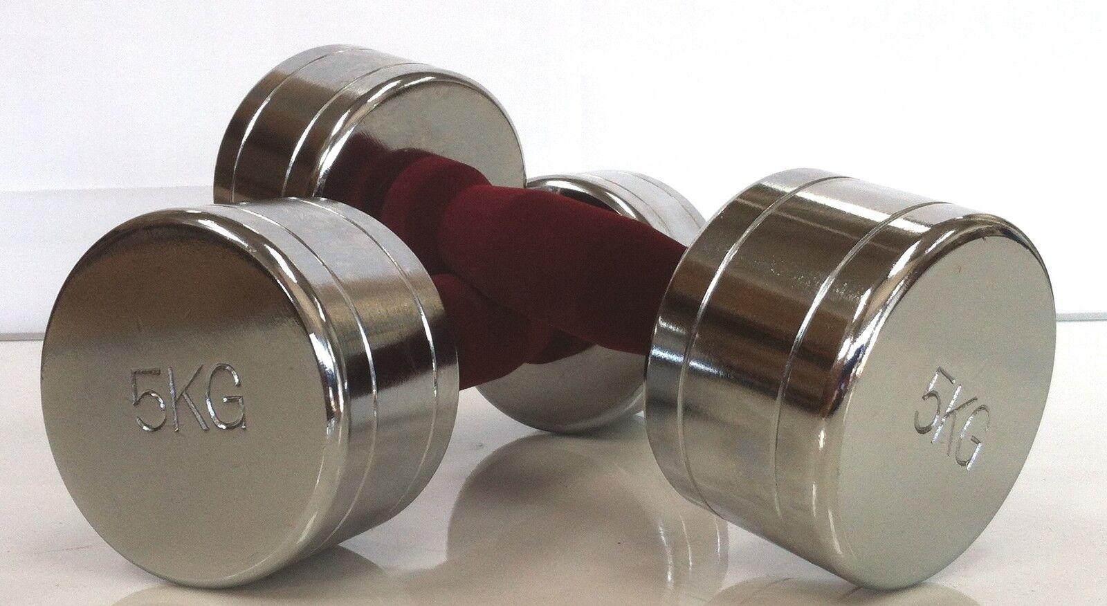Dumbbells Chrome Dumbbell Pairs 5kg Hand Weights Dumbells 2kg + 5kg Pairs e80870