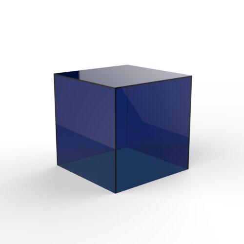 Cubo acrilico espositore QUADRATO 5 LATI BOX perspex vassoio Retail Shop Holder