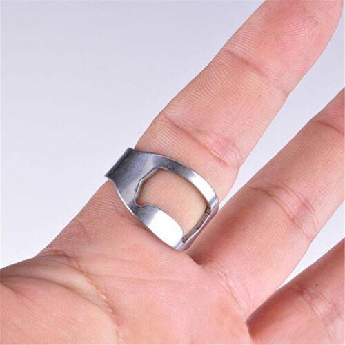 Lot of 5PCS Stainless Steel Finger Ring Bottle Opener Thumb Beer Bar Tool Party
