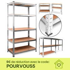 Étagère 875kg Charge Lourde Metallique de Rangement Objets Atelier 180 x 90 x 40