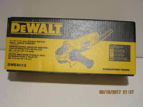 DEWALT DWE4012 7 Amp 4.5 in Small Angle Grinder W//Paddle Switch F//PRI-SHIP NISB