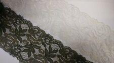 "wholesale 50 yards black rose scalloped lace trim 2.5/"" L7-5  US SHIPPER"