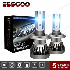2X-H1-H4-H7-H11-120W-LED-Scheinwerfer-Birne-Fern-Abblendlicht-VS-Xenon-Halogen