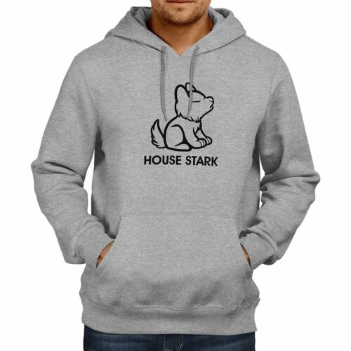 Cute House Stark Game of Thrones Fire Ice Hooded Sweater Jacket Pullover Hoodie