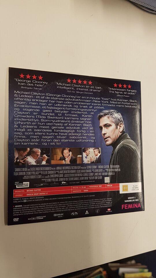 Michael Clayton, DVD, thriller
